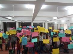 The children showcasing their creativity...