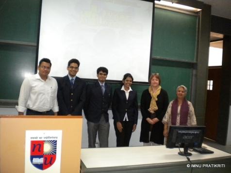 Winners of Punar Nirmaan with judges