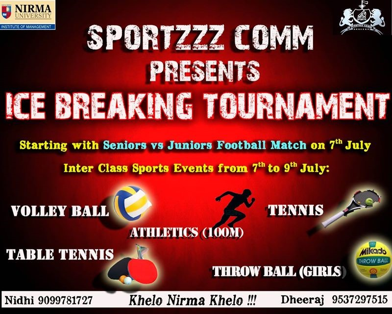 Ice Breaking Tournament Poster