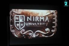 Sand art depicting life at Nirma University